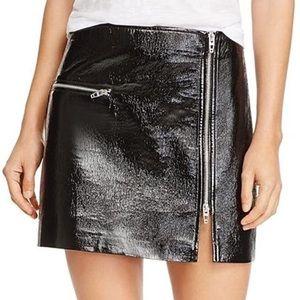BlankNYC Faux Leather Moto Skirt Black